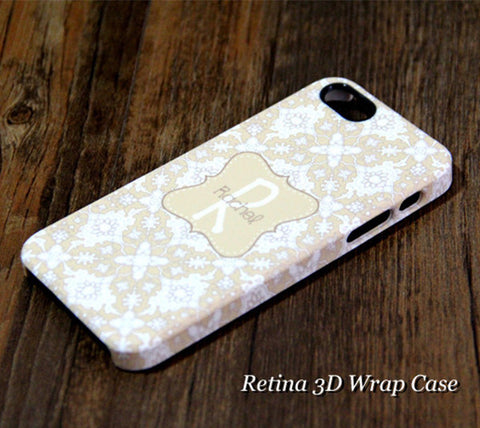 Chic Floral Monogram  iPhone 6S Plus 6S 6 5S 5 5C 4 Dual Layer Durable Tough Case  #955 - Acyc - 1