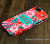 Crimson Green Floral Monogram iPhone 6S Plus 6S 6 5S 5 5C 4 Dual Layer Durable Tough Case #974 - Acyc - 1
