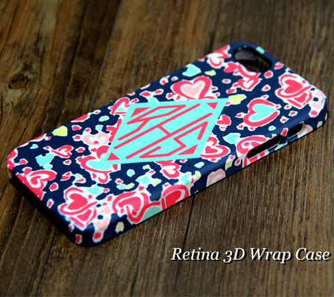 Stylish Printing Monogram iPhone 6S Plus 6S 6 5S 5 5C 4 Dual Layer Durable Tough Case#927 - Acyc - 1