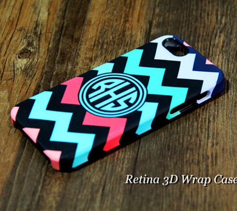 Chevron Monogram iPhone 6S Plus 6 5S 5C 5 4 Dual Layer Durable Tough Case #977 - Acyc - 1