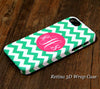 Green Chevron Monogram iPhone 6S 6 Plus 6 5S 5C 5 4 Dual Layer Durable Tough Case #947 - Acyc - 1