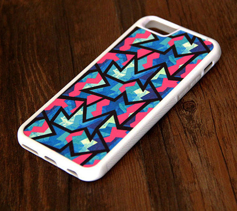 Color Zigzag Geometric iPhone 6 Plus 6 5S 5 5C 4S 4S 4 Rubber Case 306 - Acyc - 1