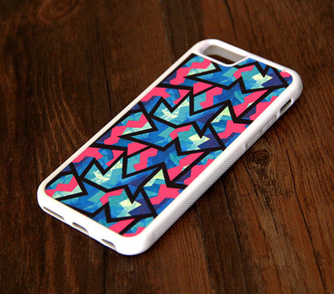 Color Zigzag Geometric iPhone 6 Plus 6 5S 5 5C 4S 4S 4 Tough Case 306 - Acyc - 1