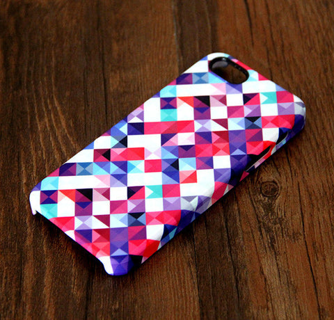 Abstract Mosaic Geometric Print iPhone 6s 6 Case/Plus/5S/5C/5 Dual Layer Durable Tough Case #298 - Acyc - 1
