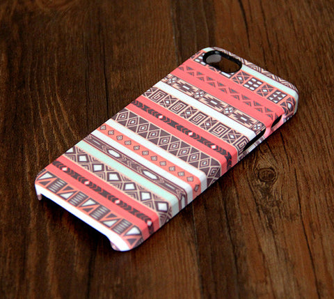 Pink Ethnic White Stripes iPhone 6 Plus 6 5S 5C 5 4 Protective Case 305 - Acyc - 1