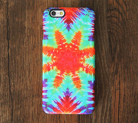 Vibrant Tie dye Pattern iPhone 6s Case/Plus/5S/5C/5/4S Dual Layer Tough Case #701 - Acyc - 1