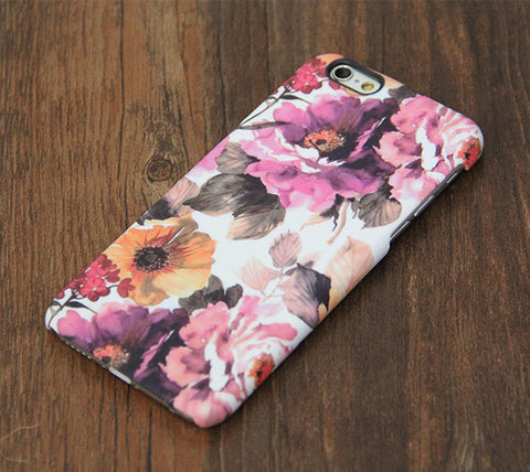 Abstract Artist Floral Design iPhone 6s 6 Case/Plus/5S/5C/5/4S Dual Layer Durable Tough Case #732 - Acyc - 1
