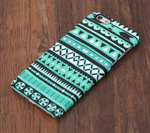Ethnic Aztec Green Design iPhone 6s Case/Plus/5S/5C/5/SE Dual Layer Durable Tough Case #740 - Acyc - 1