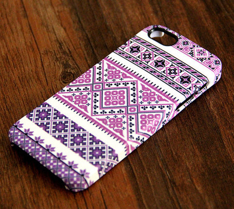 Violet Pink and White Floral Pattern iPhone 6 Plus/6/5S/5C/5/4S/4 Dual Layer Tough Case #340 - Acyc - 1
