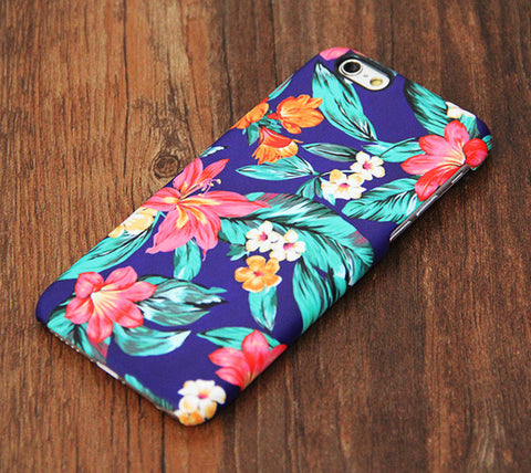 Classy Blue Floral Design iPhone 6s Case/Plus/5S/5C/5/4S  Dual Layer Durable Tough Case #735 - Acyc - 1