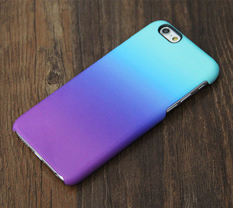Pastel Gradient Turquoise Violet iPhone 6S/6/Plus/SE/5S/5C/5/4S/4 Dual Layer Tough Case #769 - Acyc - 1