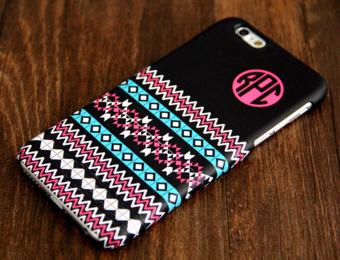 Black Ethnic Monogram iPhone 6 Plus 5S 5 5C 4 Protective Case 919 - Acyc - 1