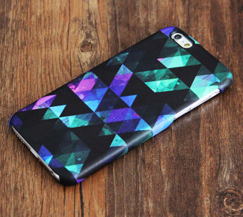 Stylish Black Geometric Pattern iPhone 6 Case/Plus/5S/5C/5/4S Dual Layer Tough Case #373 - Acyc - 1