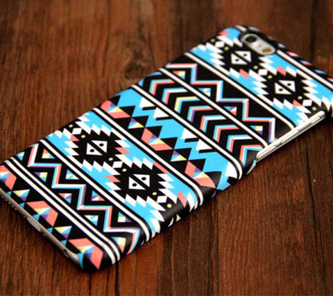 Retro Aztec Stripes Tough iPhone 6S 6 Plus 5S 5C 5 Dual Layer Protective Case #111 - Acyc - 1
