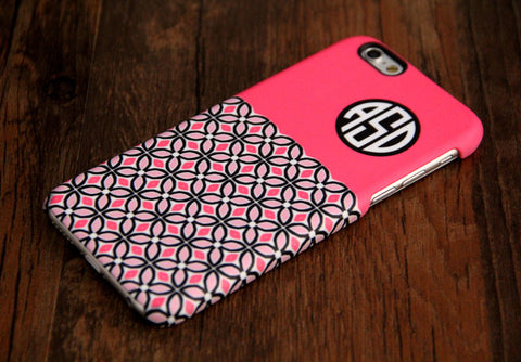 Pink Floral Monogram iPhone 6 Plus 5S 5 5C 4 Protective Case 920 - Acyc - 1
