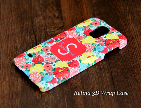 Stylish Floral Monogram Samsung Galaxy S6 Edge Plus/S6 Edge / S6/ S5/Note 5/Note 4  Protective Case - Acyc - 1