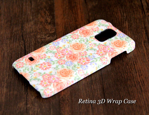 Pink and White Floral Samsung Galaxy S6 Edge Plus/S6 Edge / S6/ S5/Note 5/Note 4  Protective Case - Acyc - 1