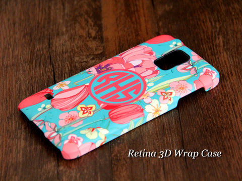 Teen Floral Monogram Samsung Galaxy S6 Edge Plus/S6 Edge / S6/ S5/Note 5/Note 4  Protective Case - Acyc - 1