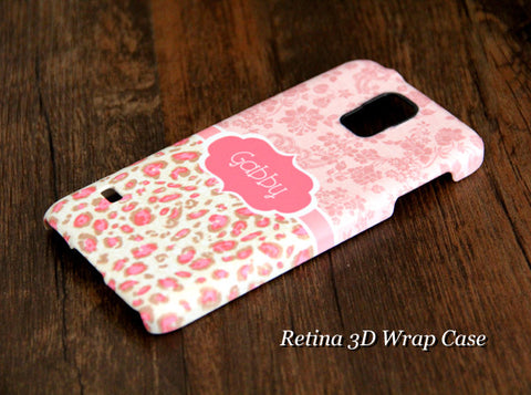 Pink Flowers Monogram Samsung Galaxy S7/Edge/S6/Edge/Plus/S5/Note 5/Note 4 Protective Case - Acyc - 1
