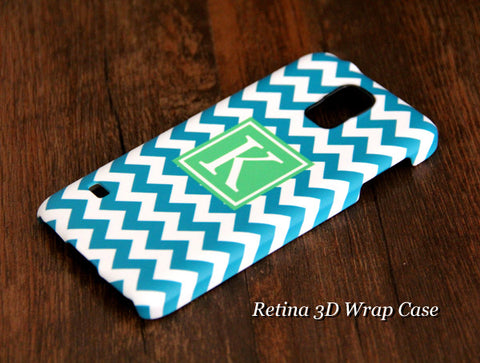 Teen Blue Chevron Monogram Samsung Galaxy S6 Edge Plus/S6 Edge / S6/ S5/Note 5/Note 4  Protective Case - Acyc - 1