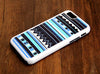 Aztec Blue Geometric Stripes iPhone 6 Plus 6 5S 5 5C 4S 4S 4 Tough Case 113 - Acyc - 3