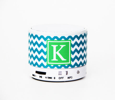 Girls Gifts Chevron Custom Monogram Wireless Bluetooth Mini Speaker for iPhone 6S/6 Gadgets - Acyc - 1
