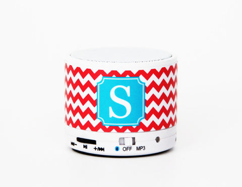 Teen Girls Team Gifts Chevron Custom Monogram Wireless Bluetooth Mini Speaker - Acyc - 1