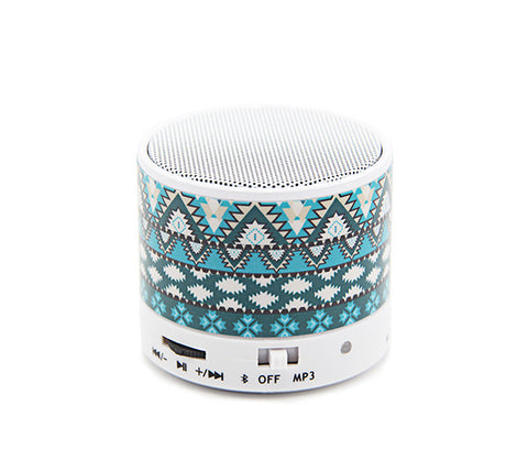 Aztec Tribal Green Wireless Bluetooth Mini Speaker - Acyc - 1