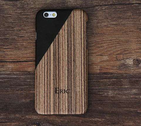 Men Style Wood Geometric Design Tough  iPhone 6s Case/Plus/5S/5C/5/SE Protective Case #441 - Acyc - 1