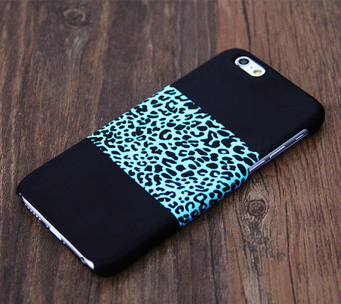 Turquoise Leopard Print Tough iPhone 6s Case/Plus/5S/5C/5/4S Protective Case #523 - Acyc - 1