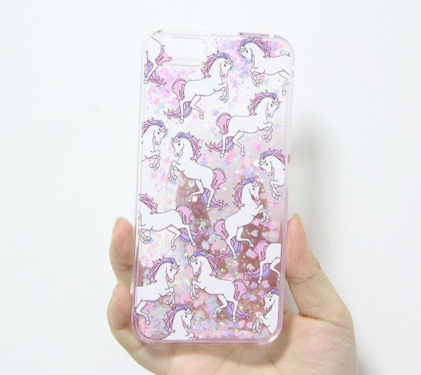 hot sale online 58099 1038f Unicorns Style Glitter Waterfall iPhone 6S/6 Case iPhone 6s/6 Plus Case