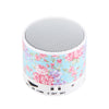 Blue Flowers Pastel Design Wireless Portable Bluetooth Mini Speaker - Acyc - 3