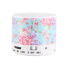 Blue Flowers Pastel Design Wireless Portable Bluetooth Mini Speaker - Acyc - 4