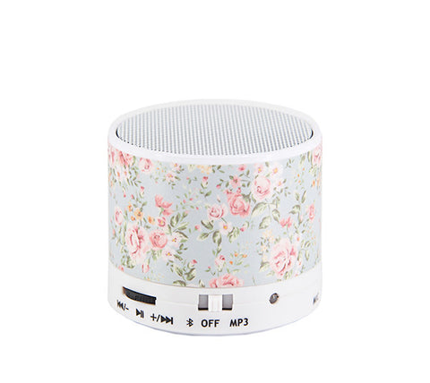 Flowers Pastel Design Portable Bluetooth Mini Speaker - Acyc - 1