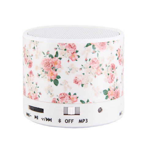 Floral White Pastel Design Wireless Portable Bluetooth Mini Speaker - Acyc - 1