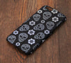 Skull Floral Black and White Tough iPhone 6s Plus/6/5S/5C/5/4S/4 Protective Case #569 - Acyc - 1