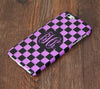 Purpe and Black Checker Pattern Monogram iPhone 6S 6 Plus 5S 5 5C Dual Layer Durable Tough Case #999 - Acyc - 1