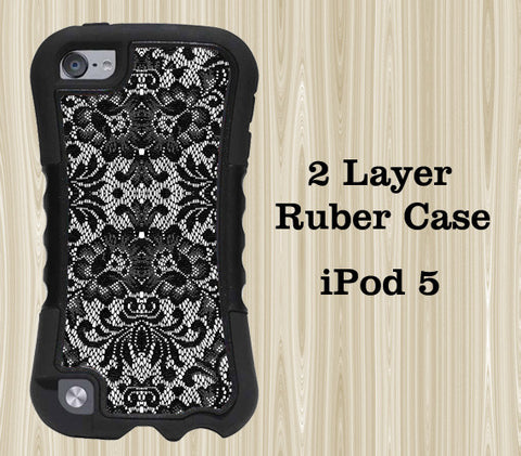 Lace Floral iPod Touch 5 Case iPod Touch 4 Case - Acyc - 1