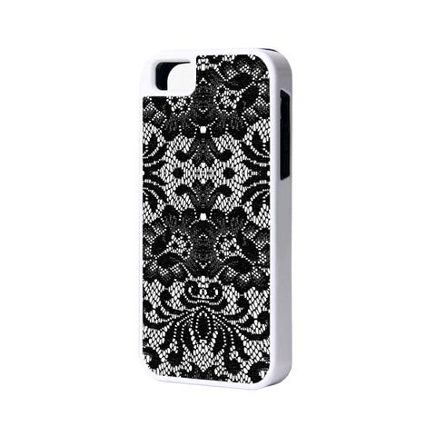 Lace Floral iPhone 6 Plus 6 5S 5 5C 4 Rubber Case - Acyc - 1