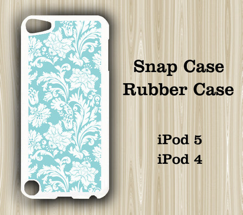 Light Blue Floral iPod Touch 5 Case iPod Touch 4 Case - Acyc - 1