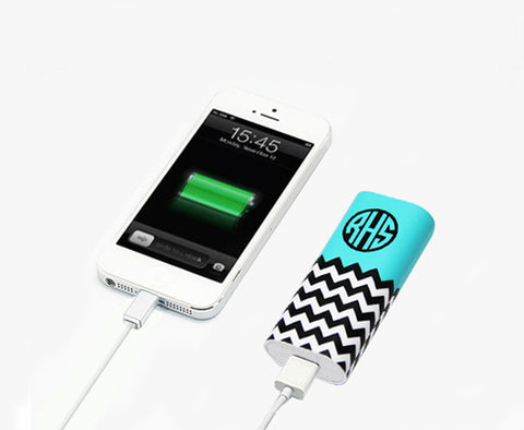 Custom Personalised Monogram Power Bank Charger for iPhone 6 6 Plus 5S - Acyc - 1