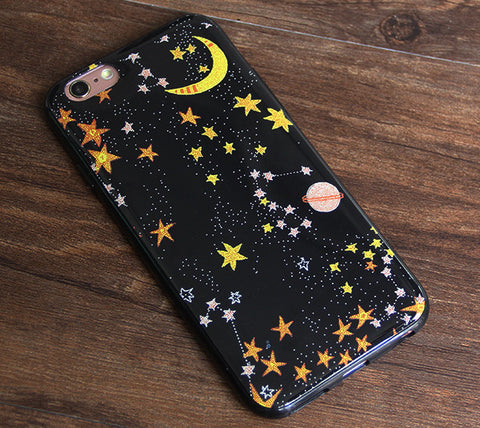 Star Moon Space iPhone 6S/6 Case Universe iPhone 6 Plus/6S Plus Rubber Case #0000 - Acyc - 1