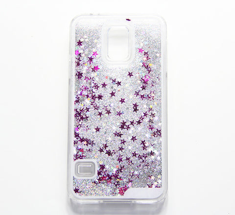 Siliver Glitter Waterfall Samsung S5 Case Galaxy S6 Edge S6  Case - Free Shipping - Acyc