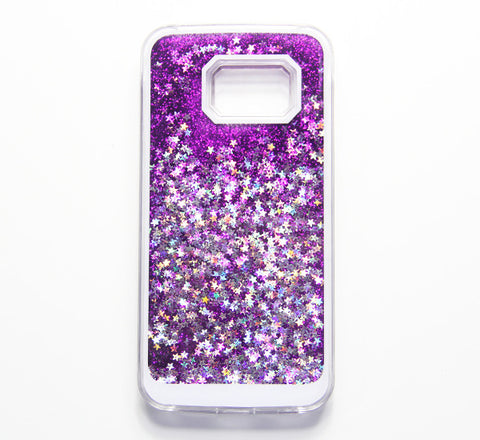 Violet Purple Glitter Waterfall Samsung Galaxy S6 Edge S6 S5 Case - Free Shipping - Acyc - 1
