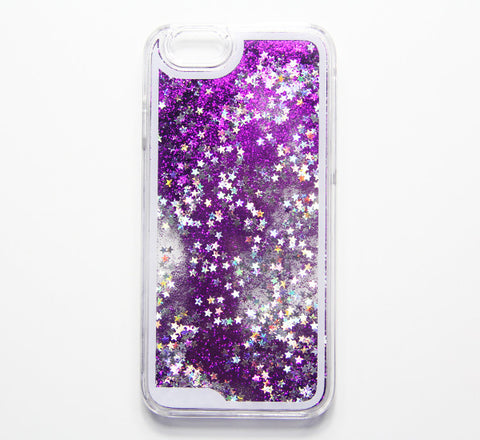 Violet Purple Glitter Waterfall iPhone 6s/6 Case iPhone 6s/6 Plus Case iPhone 5S/5/5c Case - Free Shipping - Acyc