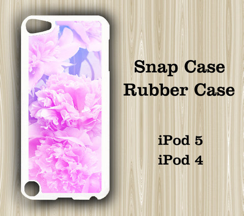 Pastel Pink Floral iPod Touch 5 Case iPod Touch 4 Case - Acyc - 1