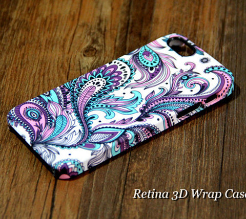 Peacock Feather Floral iPhone 6S Plus/6/5S/5C/5/4S/4 Dual Layer Durable Tough Case #139 - Acyc - 1