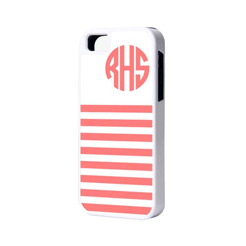 Red Lines Monogram iPhone Case and Samsung Case - Acyc - 1