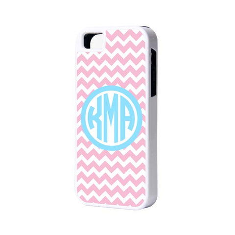 Pink Chevron Monogram iPhone Cases and Samsung Cases - Acyc - 1