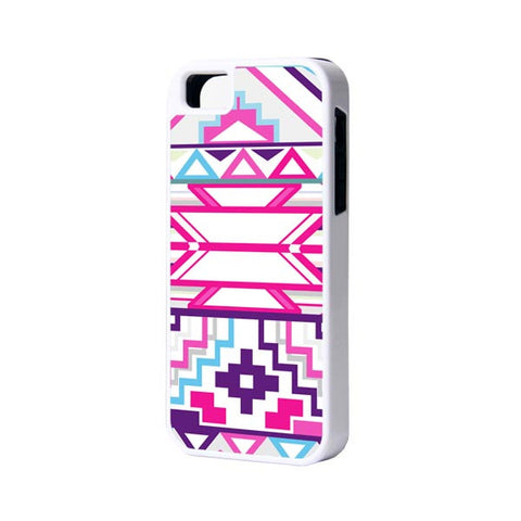Pink Geometric iPhone 6 Plus 6 5S 5 5C 4 Rubber Case - Acyc - 1